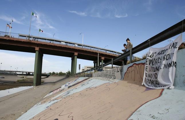 La frontera de Ciudad Juárez, entre Mexico y Estados Unidos.