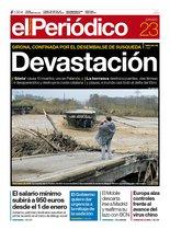 La portada de EL PERIÓDICO del 23 de enero del 2020.