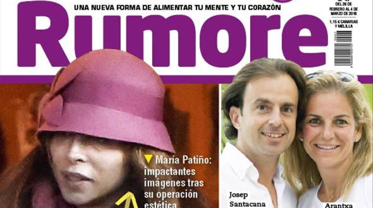 El costurón de María Patiño, en la portada de Rumore.