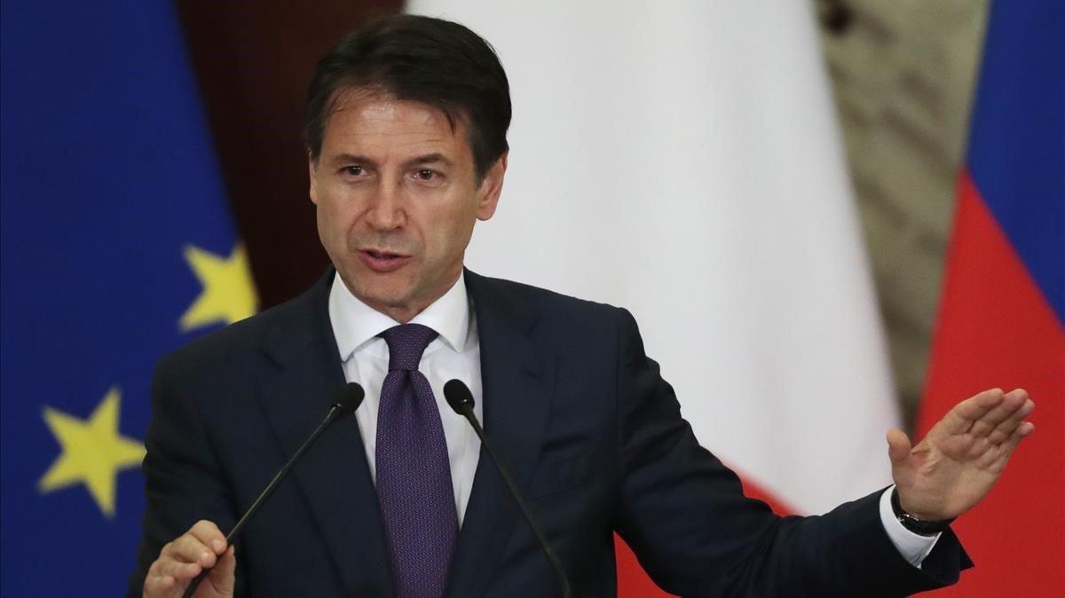 El primer ministro italiano,Giuseppe Conte.
