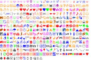 La primera tabla de emojis, creada en 1999.