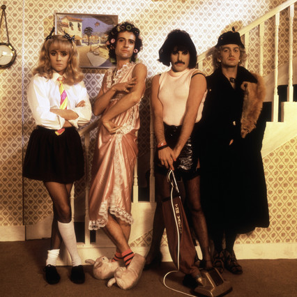 Queen, en el vídeo de I want to break free.