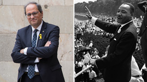 Quim Torra y Martin Luther King.