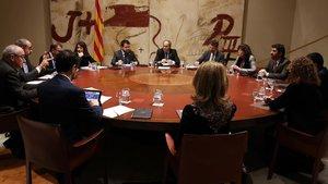 Reunión del Govern de Quim Torra, en enero del 2020