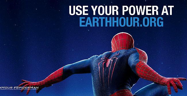 El hombre-araña de Marvel invita a participar en la iniciativa de WWF, el próximo sábado 29 de marzo.