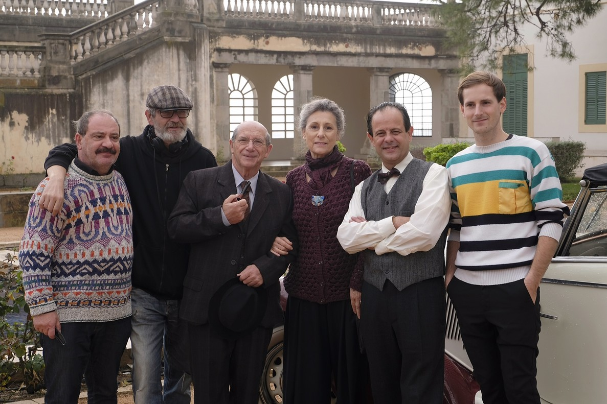 Parte del equipo de Pau Casals:Manuel Dueso, Manuel Huerga, Joan Pera, Carme Sansa, David Bages y Nao Albet, este lunes, en Vil·la Casals.