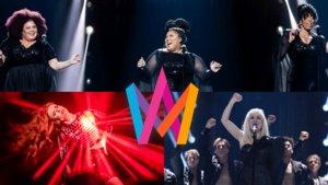 The Mamas, Dotter y Anna Bergerdahl, tres primeras clasificadas del Melodifestivalen 2020.
