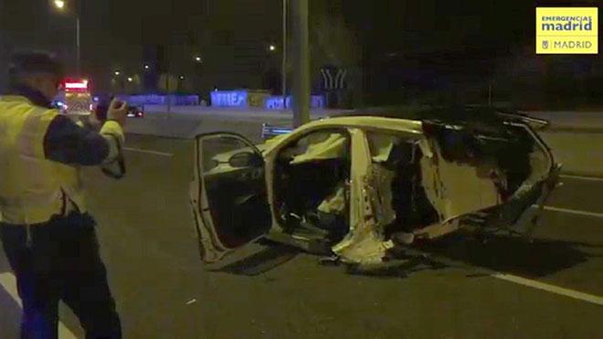 Tres fallecidos en una noche trágica en las carreteras madrileñas.