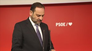 José Luis Ábalos, este lunes en la sede del PSOE.