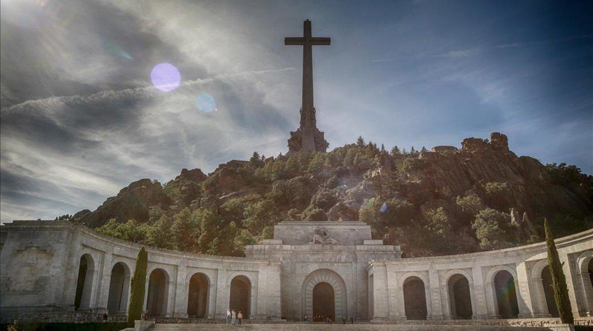 Imagen del Valle de los Caídos, donde está enterrado Franco, en una imagen del pasado día 2.