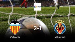 El Valencia se hace fuerte en casa y gana al Villarreal