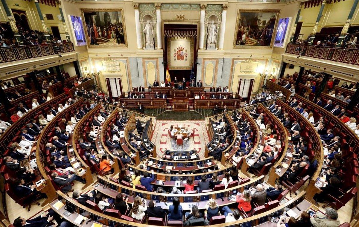 Vista general del hemiciclo del Congreso, durante la sesión constitutiva de la Cámara, elpasado 21 de mayo.