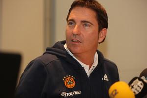 Xavi Pascual, técnico del Panathinaikos, en una de sus recientes visitas a Barcelona