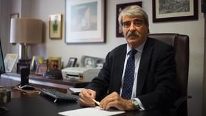 Josep Maria Galilea, en su despacho de la avenida diagonal de Barcelona.