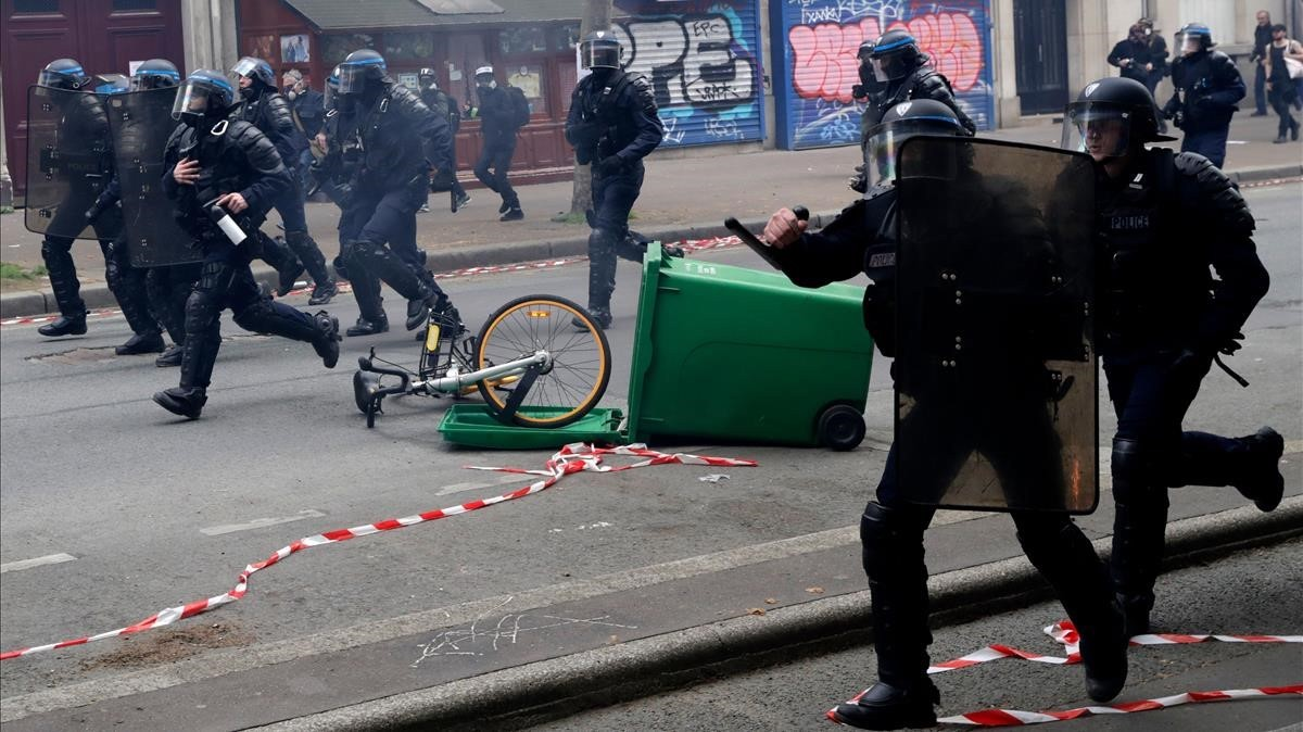 Disturbios en el Primero de Mayo en París