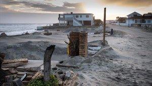 Daños causados por el reciente temporal en la costa de Huelva.