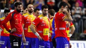 La desolación de los jugadores españoles derrotados y sin la quinta plaza del mundial.
