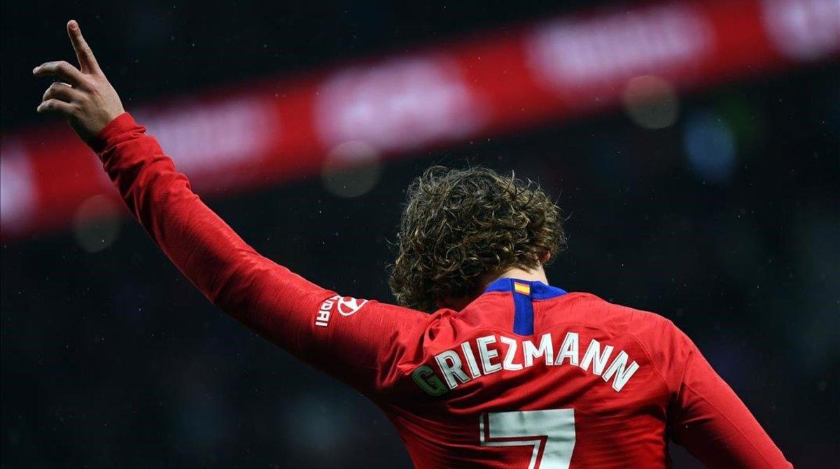 Antoine Griezmann celebra un gol.