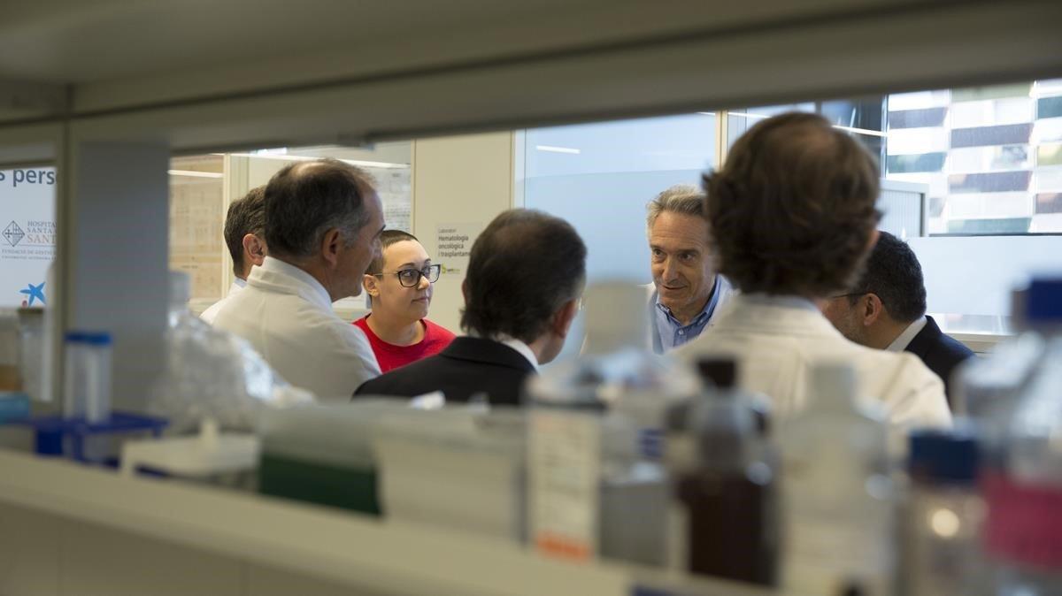 La Caixa y el Hospital de Sant Pau presentan un ensayo de inmunoterapia para cancer linfático.