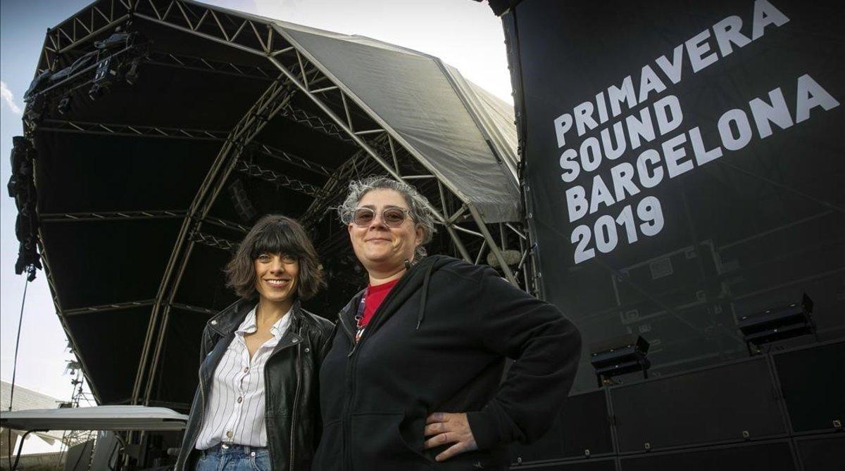"""Ainara M. y Charo S.: """"Pinchar en el cierre del Primavera Sound es muy bestia"""""""