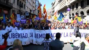 Manifestación de Societat Civil Catalana del pasado 19 de marzo de 2017
