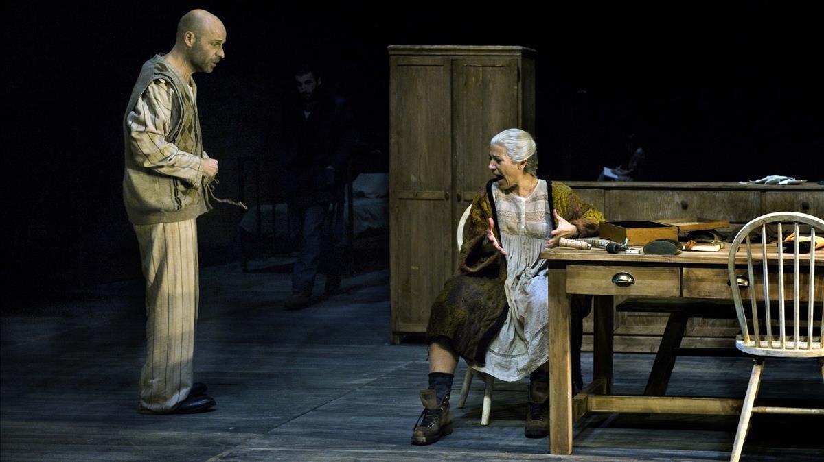 Eduard Farelo y Emma Vilarasau, en Si mireu el vent don ve, en el Lliure