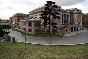 Aspecto de la fachada del Museo del Prado.