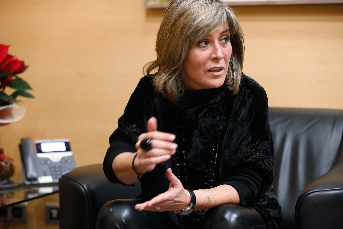 Núria Marín, alcaldesa de L'Hospitalet.