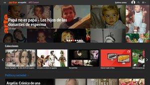 Página web de la cadena ARTE en castellano.