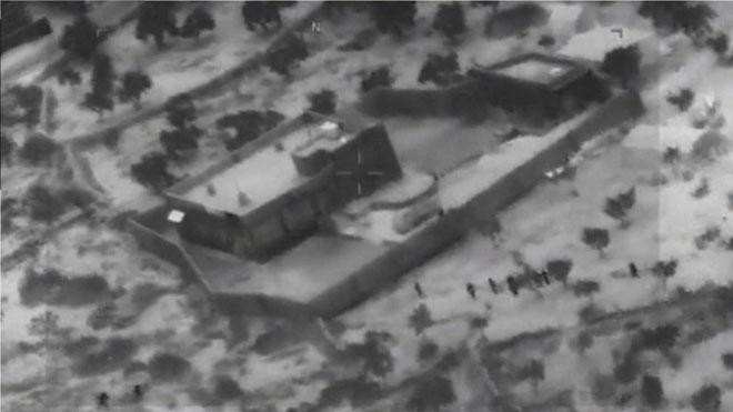Vídeo difundido por el Pentágono del ataque a Bagdadi.