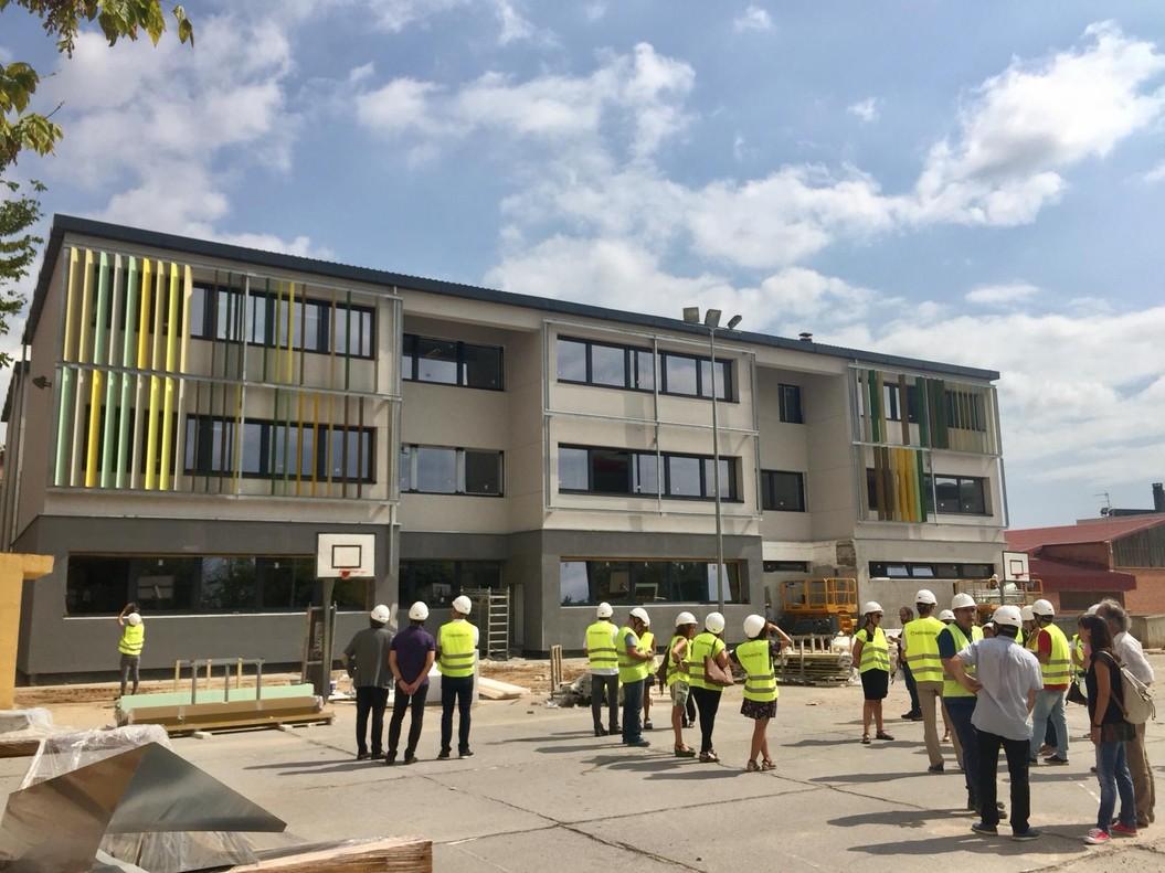 Aspecto de la escuela El Garrofer de Viladecans tras las reformas de este verano