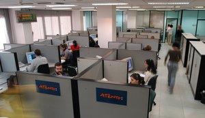 Imagen de archivo de unas oficinas de la empresa especializada en atención telefónica Atento.
