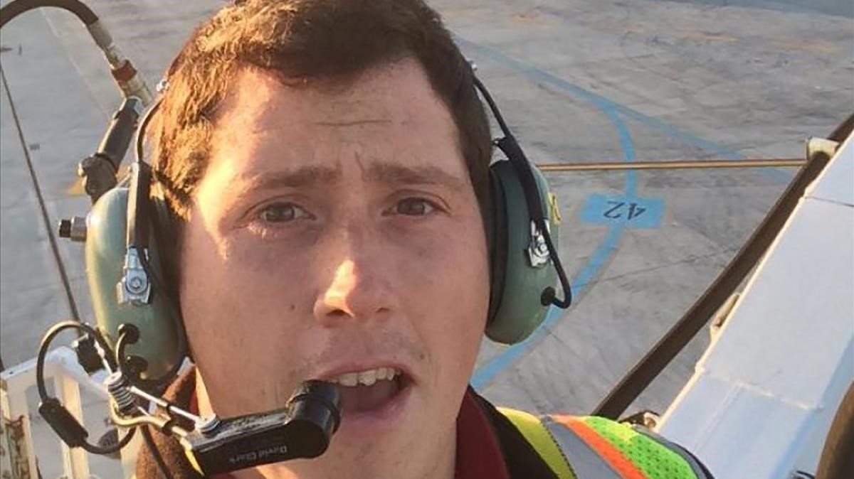 El aviador suicida Richard B. Russell.