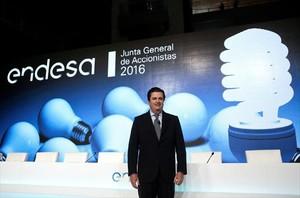 Borja Prado, ayer, en la presentación de resultados de Endesa.