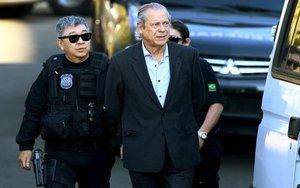 El exministro brasileño José Dirceu, acusado de corrupción.