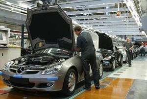 Cadena de montaje de Daimler en la ciudad alemana de Bremen.