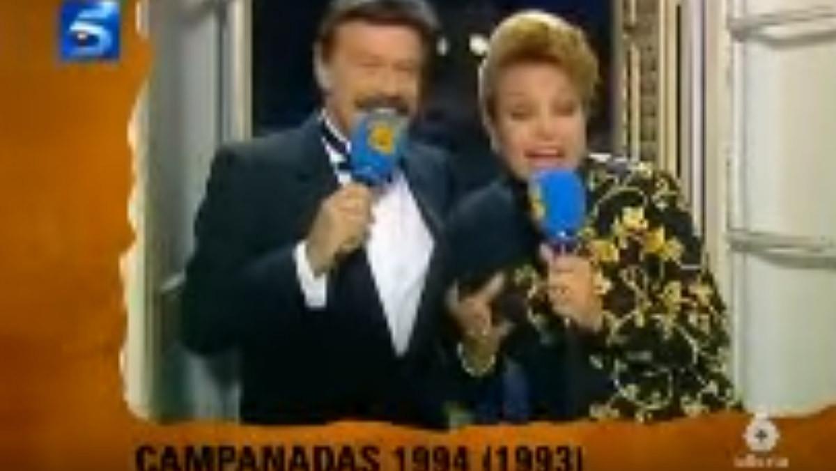 Campanadas de 1994 con Iñigo y Carmen Sevilla.