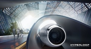 Cápsula de Hyperloop.