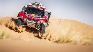 Carlos Sainz, en el Rally de Marruecos.