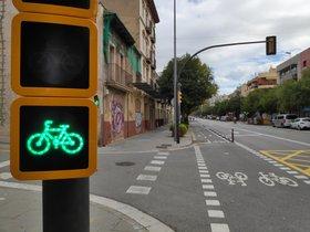 Carril bici que une Esplugues y Sant Just