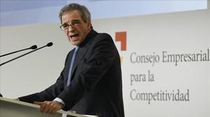 Cásar Alierta, presidente del Consejo Empresarial de Competitividad, en un acto del 'lobby'.