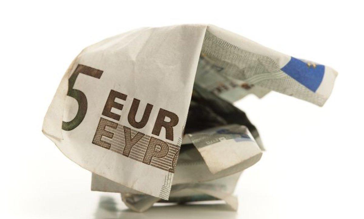 Billete de cinco euros.