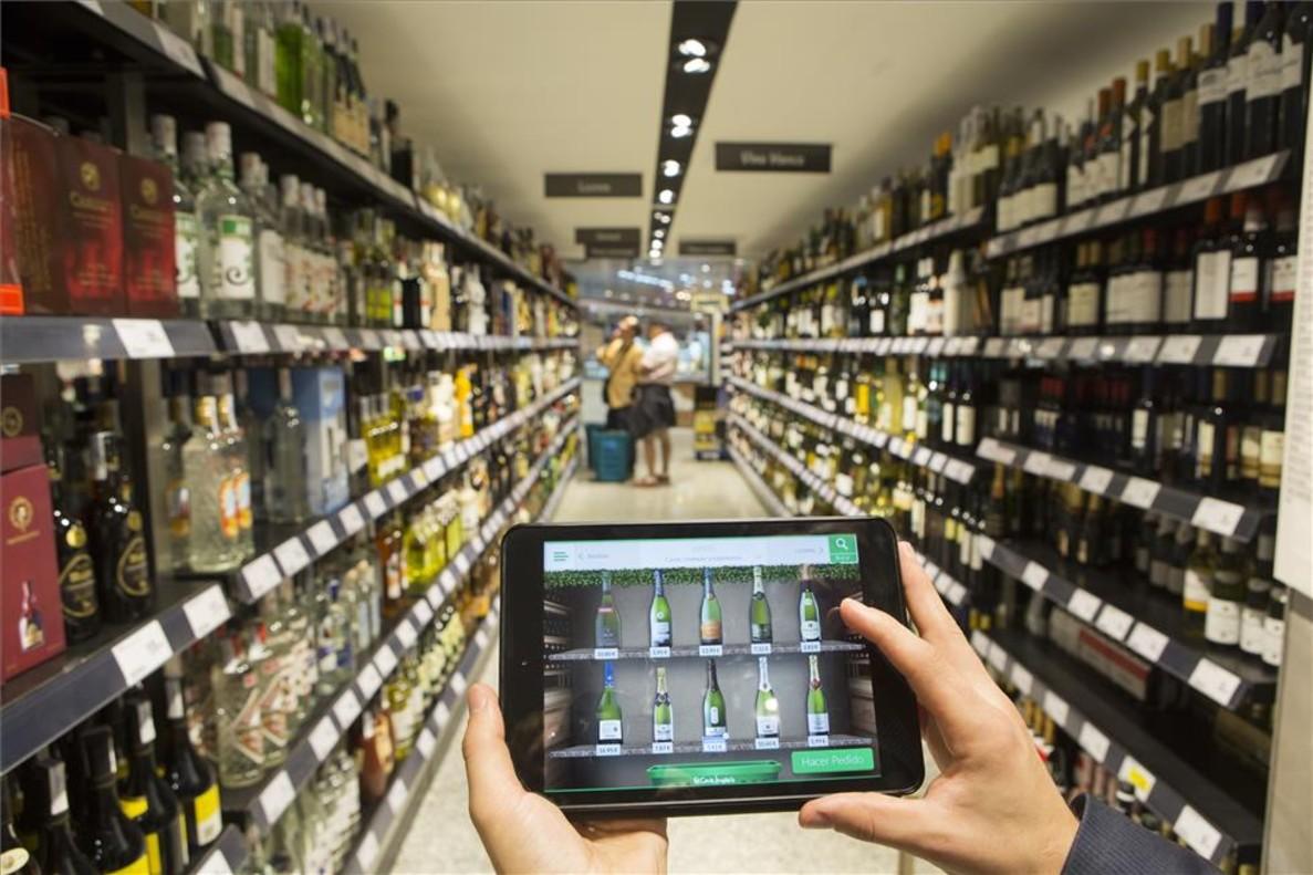 Compra a través de la 'app' en el supermercado de El Corte Inglés.