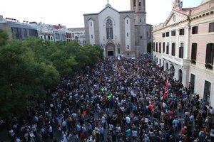 Concentración en Sabadell por las detenciones de la Guardia Civil.
