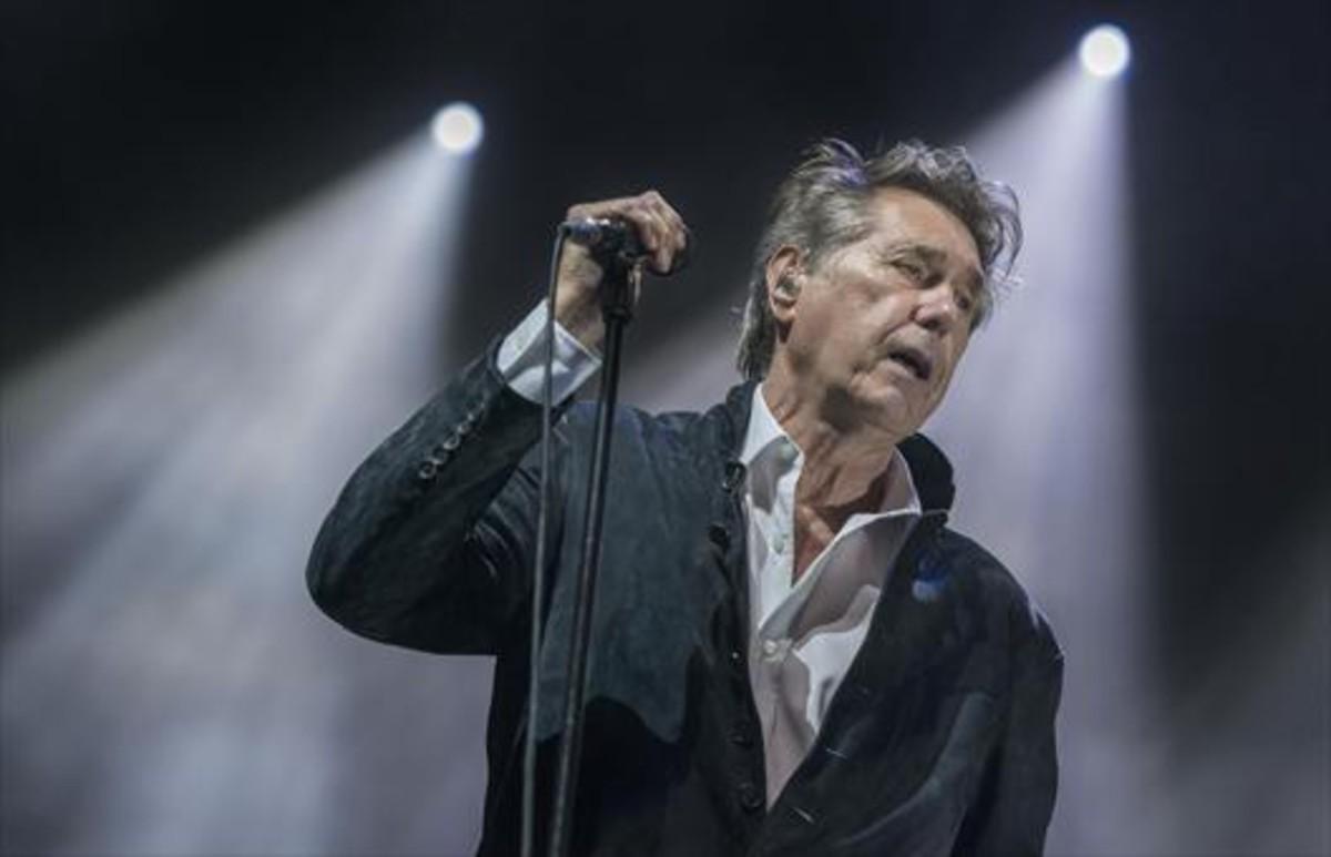 Concierto del cantante británico Bryan Ferry en el Festival Castell de Peralada.