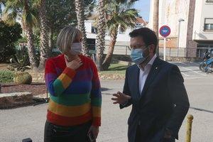 La 'consellera' de Salut, Alba Vergés, y el vicepresidente del Govern, Pere Aragonès.