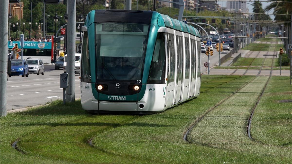 Un convoy del tranvía.