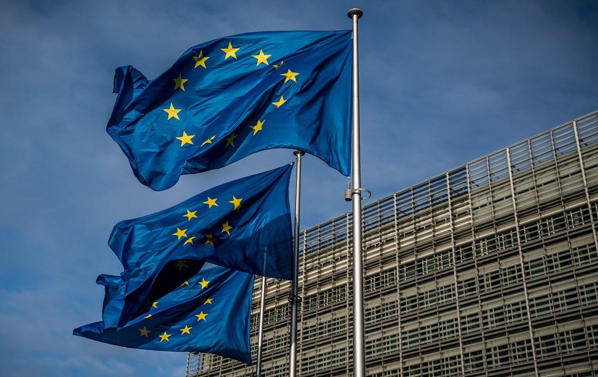 Imagen de archivo de la entrada a la sede de la Comisión Europea, en Bruselas.