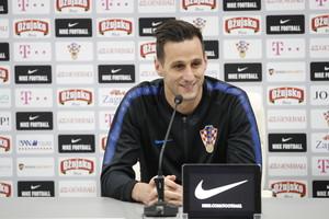 Nikola Kalinic, en rueda de prensa.