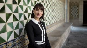 Dalia Ghanem-Yazbeck, en el Institut d'Estudis Catalans, en Barcelona.
